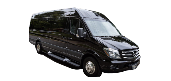 Black Sprinter Van Transportation