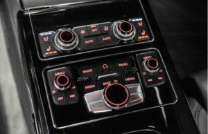 Audi A8L Interior Passenger Controls