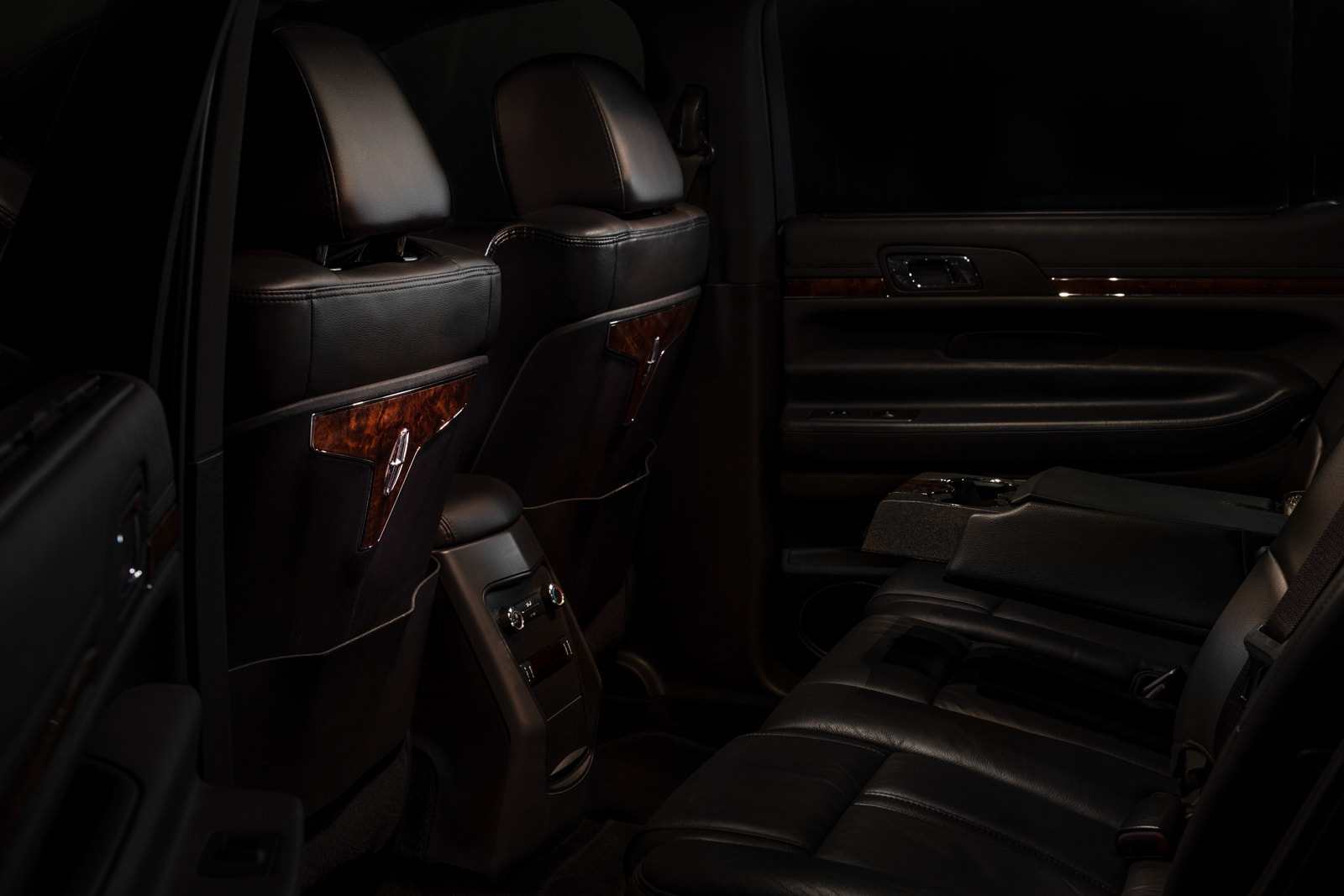 Lincoln MKT back seat representing the luxury in our limo rental service.