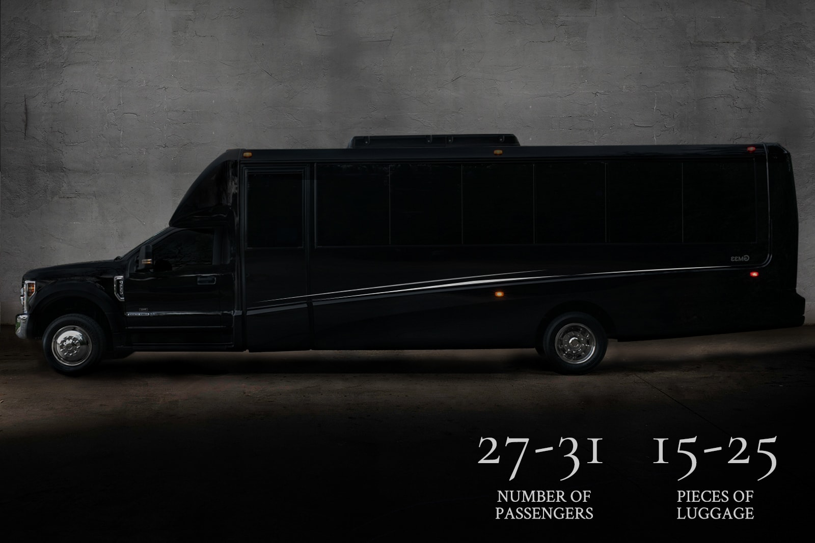 Custom Grech Mini Coach, the perfect limo rental for large people moves in luxury..